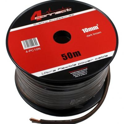 4 Connect 10 mm² Noir Ultra flexible