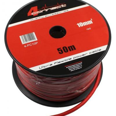 4 Connect 10 mm² Rouge Ultra flexible