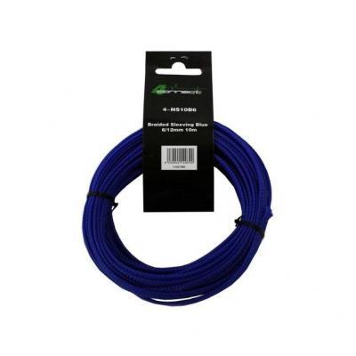 nylon / tissu bleu 6 / 12mm 10m