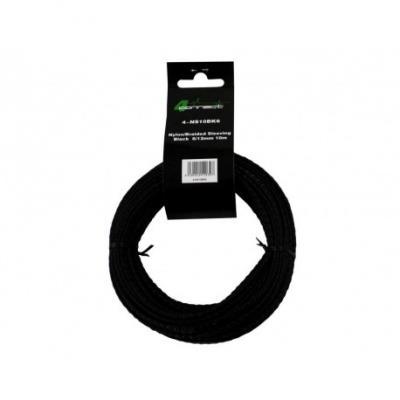 nylon / tissu noir 6 / 12mm 10m