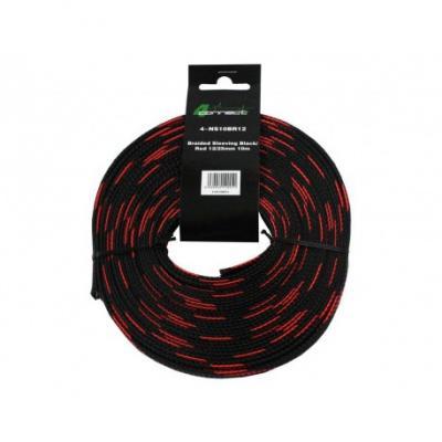 nylon rouge / noir 12 / 25mm 10m