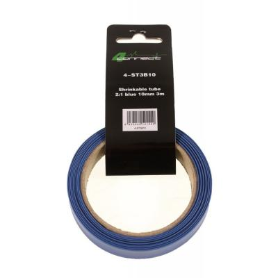 gaine rétractable, 2: 1 bleu 10mm 3m
