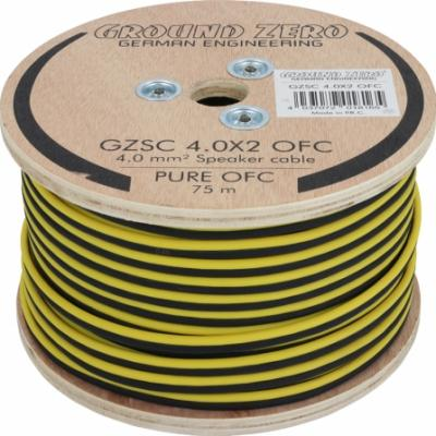 2 x 4 mm² OFC (100% cuivre) gz