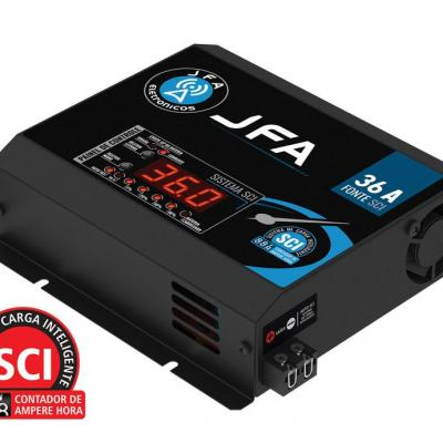 Carregador de bateria fonte automotiva 36 amperes slim jfa2020