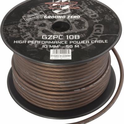 cable alimentation   10 mm2  noir GZ