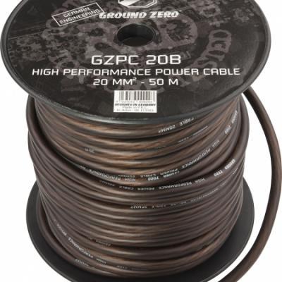 cable alimentation   20mm2 noir GZ