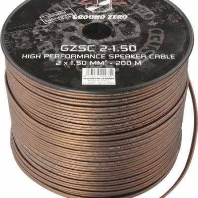 cable 2x1.5mm2 ground zero