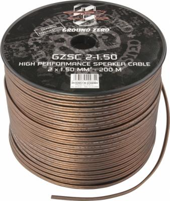 cable 2x1.5mm2 ground zero