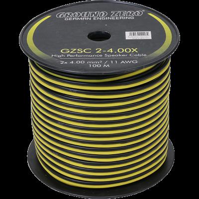 cable haut parleur 2X 4mm2 ground zero