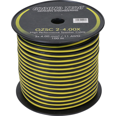 cable haut parleur 2X 4mm2 ground zero