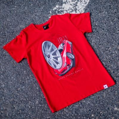 Jr men s t shirt jr 11 car red size lm