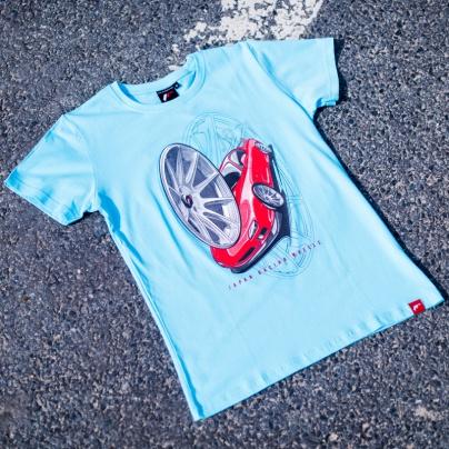 Jr men s t shirt jr 11 car turquoise size lm