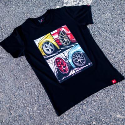 Jr men s t shirt mix black size lm