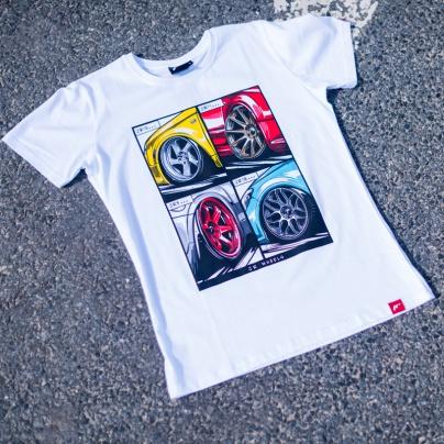 Jr men s t shirt mix white size lm