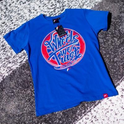 Jr men s t shirt trust blue size lm