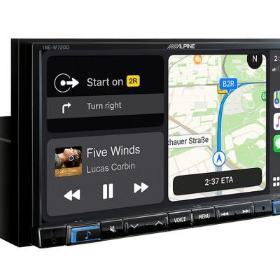 Navigation system ine w720d music online navigation split screen