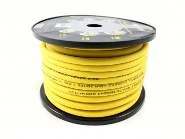 cable alimentation100 % cuivre  20 mm² jaune
