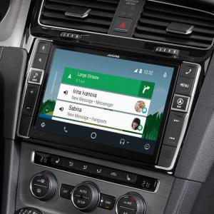Vw golf 7 navigation system x903d g7 android auto hangouts messenger