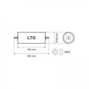Yinlong 6 piles a oxyde de titanate de lithium lto 23v 40ah 3